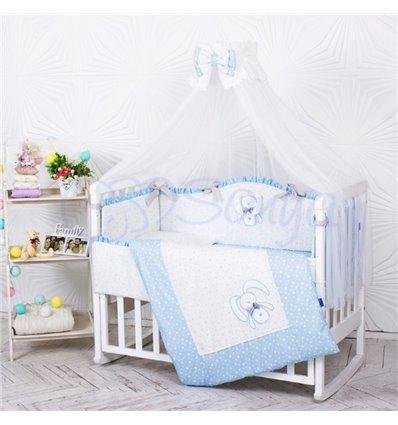Детский постельный комплект Маленькая Соня Lucky star голубой