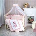 Детский постельный комплект Маленькая Соня Мишка Bonya девочка
