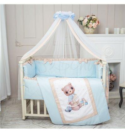 Детский постельный комплект Маленькая Соня Мишка Bonya мальчик
