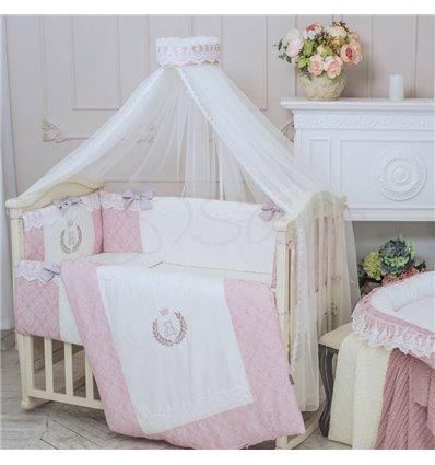 Детский постельный комплект Маленькая Соня De Lux пыльная роза
