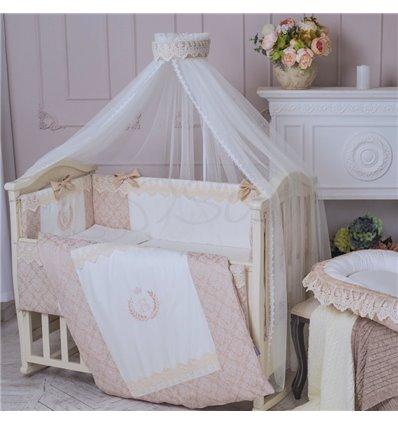 Детский постельный комплект Маленькая Соня De Lux бежевый