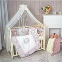 Детский постельный комплект Маленькая Соня Fiori розовый