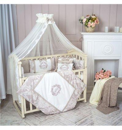 Детский постельный комплект Маленькая Соня Fiori серый