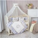 Детский постельный комплект Маленькая Соня Fiori синий