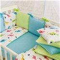 Детский постельный комплект Маленькая Соня Baby Design Премиум Dino бирюза