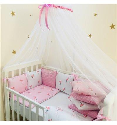 Детский постельный комплект Маленькая Соня Baby Design Премиум Фламинго