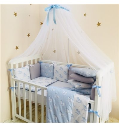 Детский постельный комплект Маленькая Соня Baby Design Премиум Лошадки