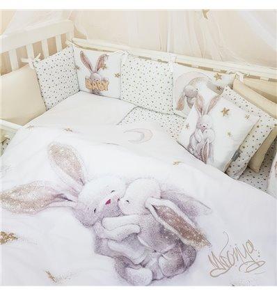 Детский постельный комплект Маленькая Соня Magic Зайка золото