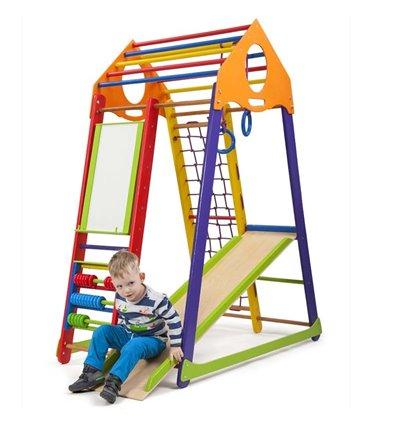 Детский спортивный комплекс для дома SportBaby BambinoWood Color Plus