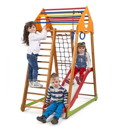 Детский спортивный комплекс для дома SportBaby BambinoWood Plus 1