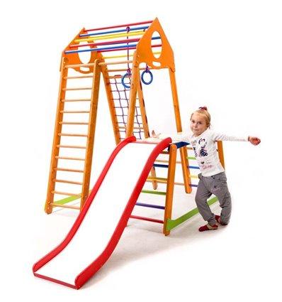 Детский спортивный комплекс для дома SportBaby BambinoWood Plus 1-1