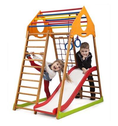 Детский спортивный комплекс для дома SportBaby KindWood Plus 1