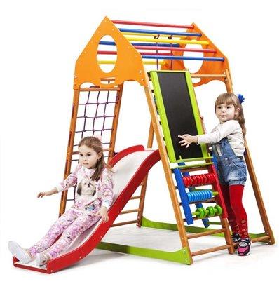 Детский спортивный комплекс для дома SportBaby KindWood Plus 3