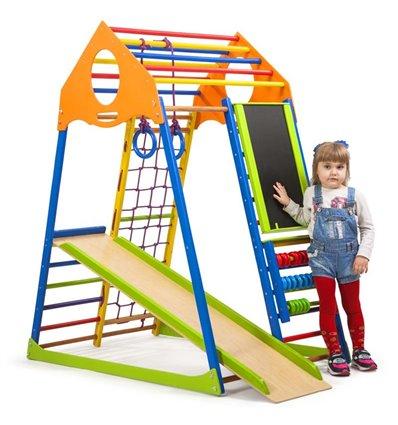 Детский спортивный комплекс для дома SportBaby KindWood Color Plus