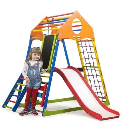 Детский спортивный комплекс для дома SportBaby KindWood Color Plus 3