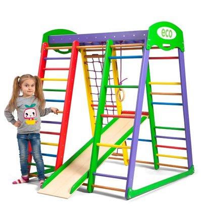 Детский спортивный комплекс для дома SportBaby Акварелька Мини