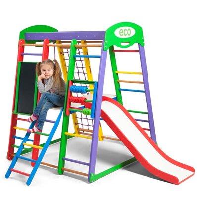 Детский спортивный комплекс для дома SportBaby Акварелька Plus 3