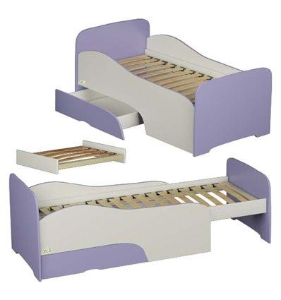 Подростковая кроватка трансформер Oris Flora бело-лиловая