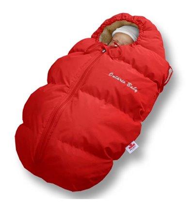 Пуховый конверт Ontario Baby Born мех (от -5°C до -30°C) красный 227