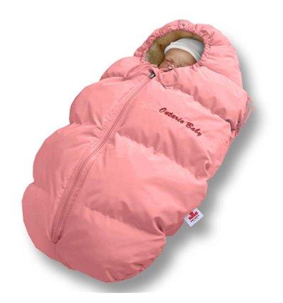 Пуховый конверт Ontario Baby Born мех (от -5°C до -30°C) розовый 228