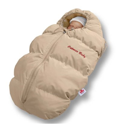 Пуховый конверт Ontario Baby Born мех (от -5°C до -30°C) бежевый 229