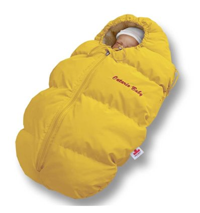 Пуховый конверт Ontario Baby Born мех (от -5°C до -30°C) желтый 230
