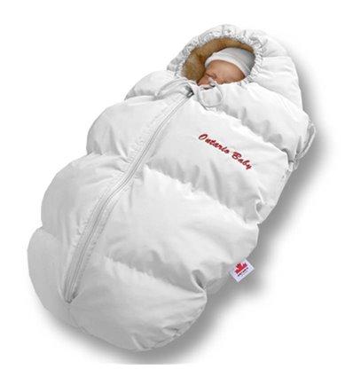 Пуховый конверт Ontario Baby Born мех (от -5°C до -30°C) белый 236