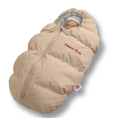 Пуховый конверт Ontario Baby Born флис (от +10°C до -20°C) бежевый 326