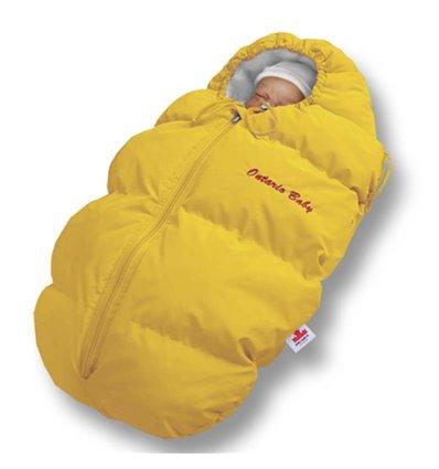 Пуховый конверт Ontario Baby Born флис (от +10°C до -20°C) желтый 327