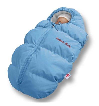 Пуховый конверт Ontario Baby Born флис (от +10°C до -20°C) голубой 329