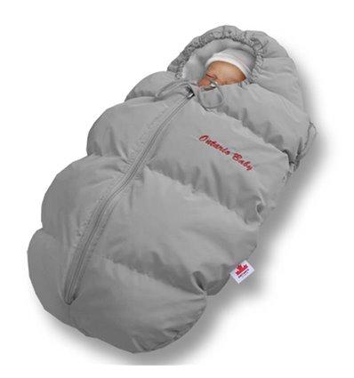 Пуховый конверт Ontario Baby Born флис (от +10°C до -20°C) серый 332