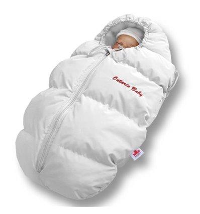 Пуховый конверт Ontario Baby Born флис (от +10°C до -20°C) белый 333