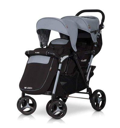 Прогулочная коляска для двойни Easy Go Fusion Duo Grey-Fox