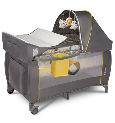 Манеж кровать Lionelo Sven Plus Yellow Scandi