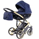 Детская коляска 2 в 1 Tako Junama Saphire 01 Blue-Gold