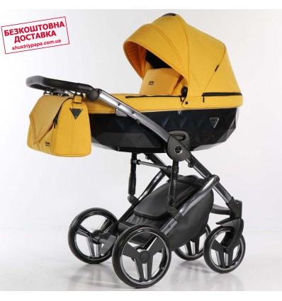 Детская коляска 2 в 1 Tako Junama Saphire 05 Yellow-Silver