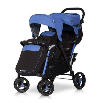 Прогулочная коляска для двойни Easy Go Fusion Duo Saphire