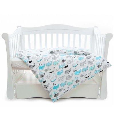 Детская сменная постель Twins Comfort Line C-053 Рыба кит голубой