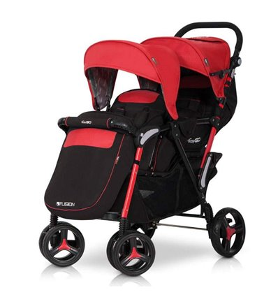Прогулочная коляска для двойни Easy Go Fusion Duo Scarlet