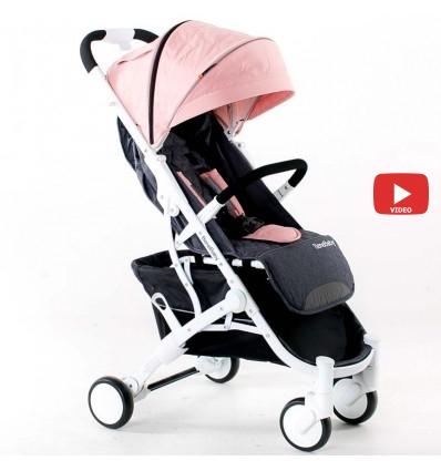 Детская прогулочная коляска BeneBaby D200 розовая