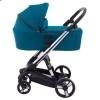 Детская коляска 2 в 1 ibebe i-stop бирюзовая хром