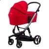 Детская коляска 2 в 1 ibebe i-stop красная хром