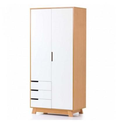 Шкаф Верес Манхеттен 850 с ящиками бело-буковый