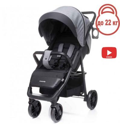 Детская прогулочная коляска 4Baby Moody 2020 серая
