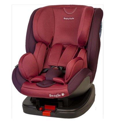 Автокресло детское BabySafe Beagle Isofix bordo, 0-25 кг