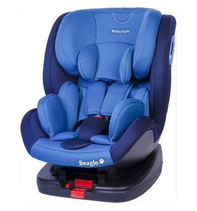 Автокресло детское BabySafe Beagle Isofix blue, 0-25 кг