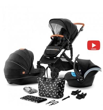 Детская коляска 3 в 1 Kinderkraft Prime 2020 Black