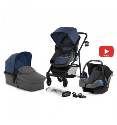Детская коляска 3 в 1 Kinderkraft Juli Navy
