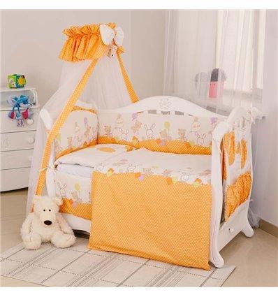 Детский постельный комплект Twins Standart 8 эл. C-021 Горошки оранжевый