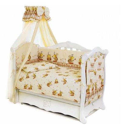 Детский постельный комплект Twins Standart 8 эл. C-031 Пчелки бежевый